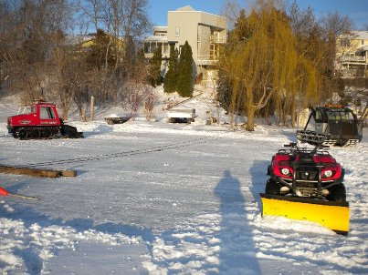 Ice recovery towing